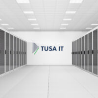 Data Centre with servers on each side